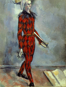 Arlequin by Paul Cezanne
