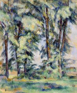 Grands Arbres au Jas de Bouffan by Paul Cezanne
