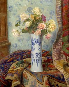Vases de Roses aux Tapis by Oreste Costa