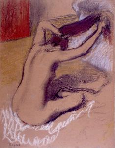 Femme se Peignant, c.1889-92 by Edgar Degas