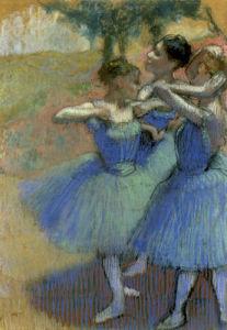 Trois Danseuses en Bleu (Decor de Paysage), c.1897 by Edgar Degas