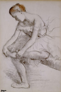 Danseuse Assise, c.1896 by Edgar Degas