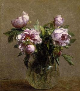 Vase de Pivoines by Ignace-Henri-Théodore Fantin-Latour