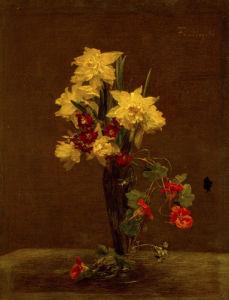 Fleurs - Jonquilles et Capucines, 1881 by Ignace-Henri-Théodore Fantin-Latour