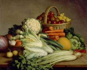 Still Life of Vegetables by French School