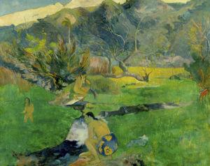 Tahitiennes pres d'un Ruisseau, 1893 by Paul Gauguin