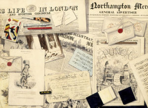 Trompe l'Oeil of Newspapers, Banknotes, Playing Cards, Envelopes and Prints by A.G. Vaughan
