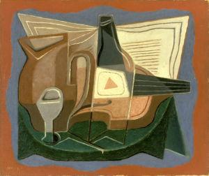 La Bouteille de Bass, 1925 by Juan Gris