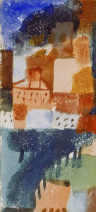 Hauser mit Baumallee, 1915 by Paul Klee