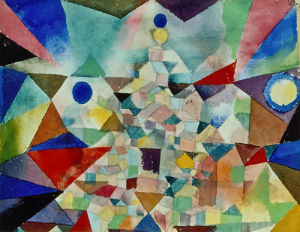 City Crowded with a Temple, 1917 by Paul Klee