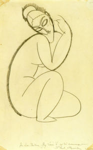 Cariatide, c.1911-12 by Amedeo Modigliani