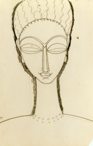 Tete de Face by Amedeo Modigliani
