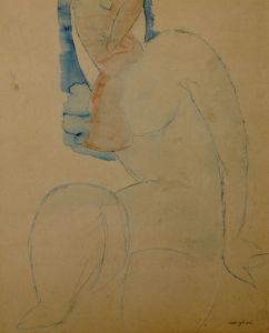 Cariatide, c.1912-14 by Amedeo Modigliani