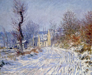 Route de Giverny en Hiver by Claude Monet