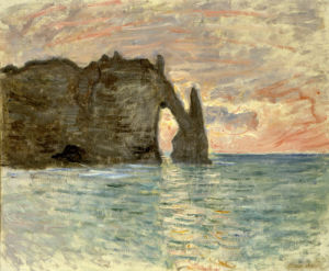 La Falaise d'Etretat, 1883 by Claude Monet