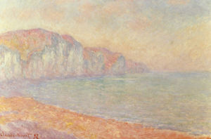 Falaises de Pourville, Le Matin by Claude Monet
