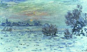 Hiver sur la Seine, Lavacourt by Claude Monet