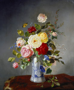 Still Life with Roses and Wildflowers in a Chinese Vase by Otto Diderich Ottesen