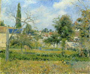Jardins Potagers, Pontoise, c.1880-81 by Camille Pissarro