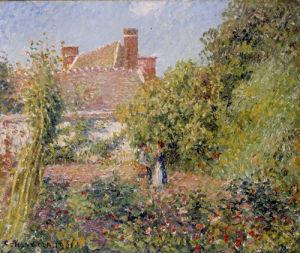Jardin Potager a Eragny, Apres-Midi by Camille Pissarro