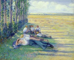 Le Repos des Moissonneurs, 1887 by Camille Pissarro