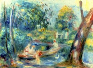 Paysage avec Riviere, 1910 by Pierre Auguste Renoir