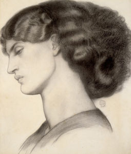 Mrs William Morris, 1865 by Dante Gabriel Rossetti