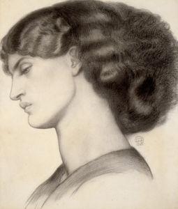 Mrs William Morris, 1865 by Dante Gabriel Rossetti