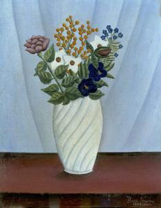 Bouquet de Fleurs, 1909 by Henri Rousseau