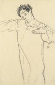 Selbstbildnis (Self-Portait), 1913 by Egon Schiele