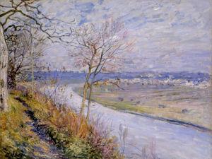 La Plaine de Champagne du Haut by Alfred Sisley
