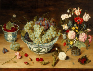 A Still Life of Fruit and Flowers by Isaak Soreau