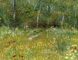 Un Parc au Printemps, 1887 by Vincent Van Gogh