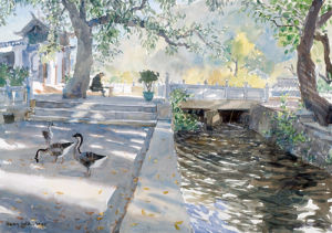 Chinese Geese by Lucy Willis