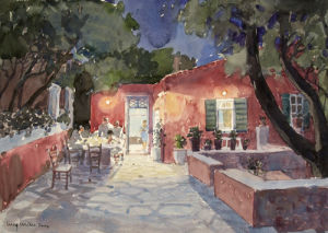Syros Night by Lucy Willis
