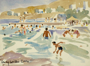 Waves at Azolimnos by Lucy Willis