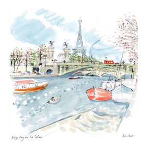Busy Day on La Seine by Alice Tait