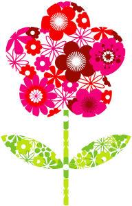 Flower Filled Flower by Marie Perkins