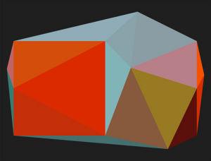 Triangulations No.3, 2013 by Henri Boissiere