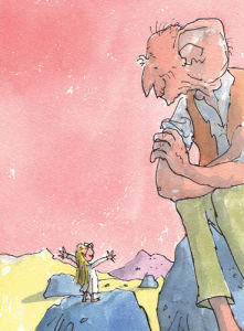 Roald Dahl - The BFG and Sophie 1 by Quentin Blake
