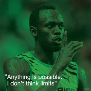 Usain Bolt - iQuote by Anonymous