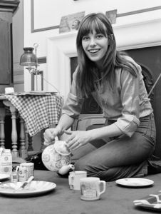 Jane Birkin pouring tea by Anonymous