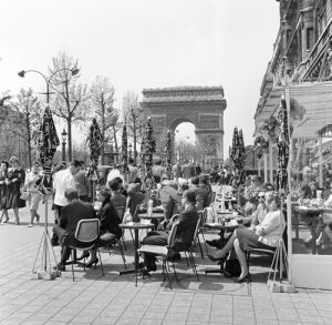 Paris café by Anonymous