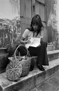 Jane Birkin shopping in Paris by Anonymous