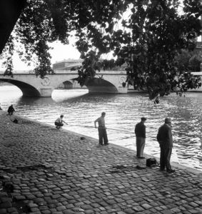 Fishing in the River Seine, Paris by Anonymous