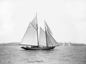 Sailing off Cowes c.1930 by Anonymous