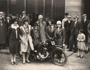 Ladies' Motorcycle Team by Anonymous