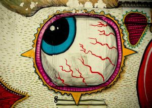 Graffiti Eyeball by Keri Bevan