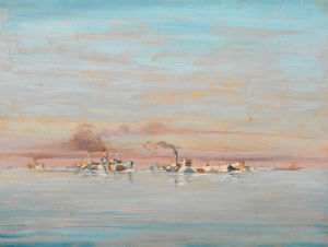 A Convoy in the Channel by Geoffrey Stephen Allfree
