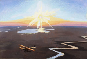 Flying over the Desert, 1919 by Sydney W Carline